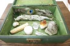 Travel Altar Kits - Flight of Fancy's Rustic Altar Kit is Equipped with Sage and Crystals