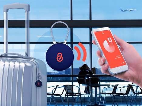 Delivery Service Luggage Locks - The 'Lockee' Smart Luggage Lock Gets Your Lost Bag Back in 48-Hours