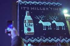 Boozy Knit Billboards - This Miller Lite Billboard Mimics an Ugly Christmas Sweater