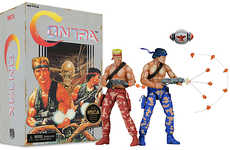 Retro Action Figures - These Contra Game Action Figures Feature Authentically Limited Colors