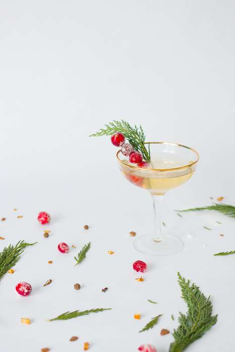 Mulled Champagne Cocktails