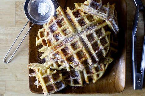Festive Eggnog Waffles