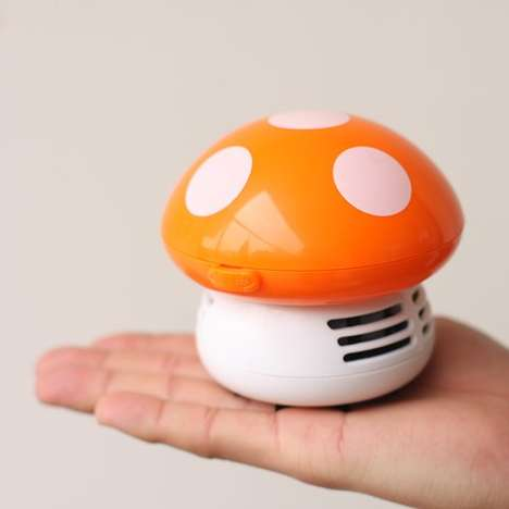 Miniature Mushroom Vacuums - This Hands-Free Household Cleaner Targets Hard to Reach Places