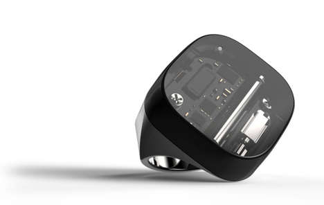 App-Connected Rings - The Neyya Smart Ring's Touchscreen Extends the Functions of a Smartphone