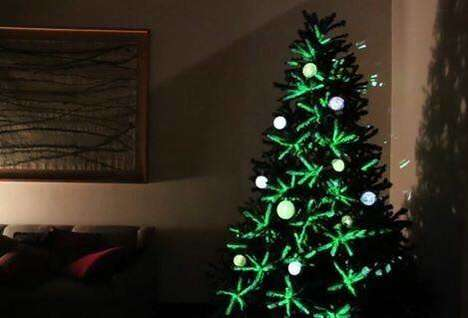 Projection-Mapped Holiday Trees