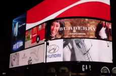 Interactive Holiday Billboards - Burberry's 'Personalized For You Ad' Promotes Consumer Interaction