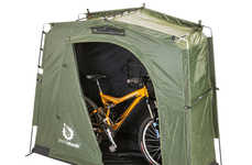 Exterior Storage Tents - The 'YardStash III' Outdoor Storage Tent Makes the Most of Outside Space