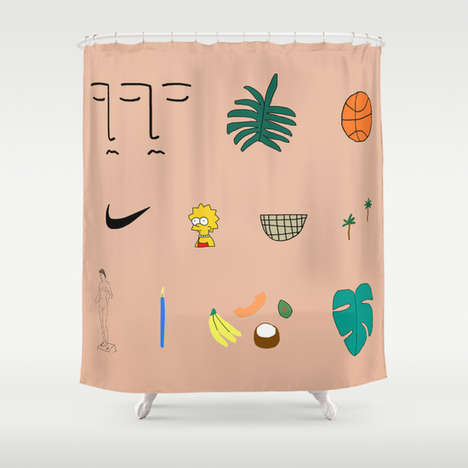 Collaborative Art Shower Curtains