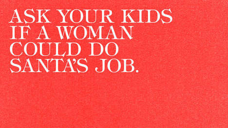 Female Santa Campaigns - This Ad Asks Kids If Santa Could Be a Woman & Their Answers Raise Concerns