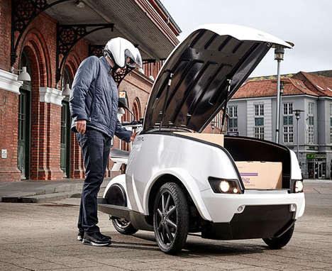 Efficient Delivery Vehicles - The TREFOR 'TRIPL' Three-Wheel Urban Cargo Vehicle is City-Oriented