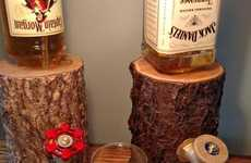 Log Liquor Dispensers