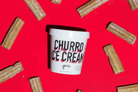 Pastry-Filled Churro Ice Cream