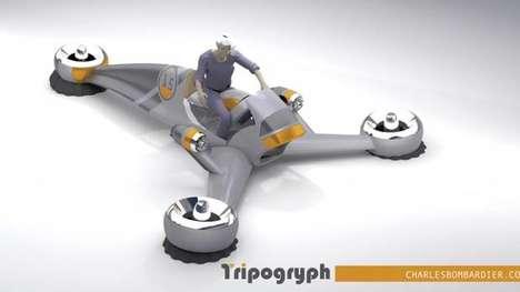 Three-Wheeled Flying Machines