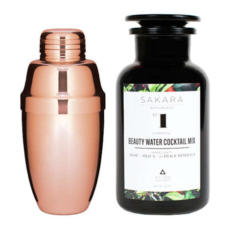 Beautifying Water Cocktails - This Beauty Cocktail Kit Includes a Shaker and a Superfood Mixer