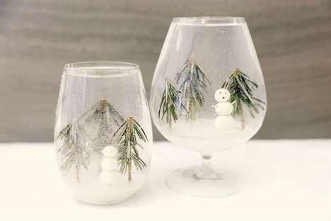 Snowy Globe Cocktails
