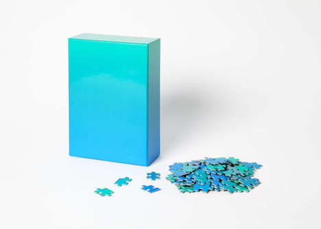 Gradient Pigment Puzzles - These Puzzle Sets Focus on Recreating Color Shades Rather than Pictures