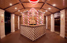 Gingerbread House Bank Pop-Ups - This Gingerbread Bank Was Assembled in Philadelphia for PNC Bank