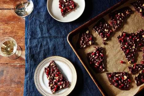 Festive Pomegranate-Infused Chocolates