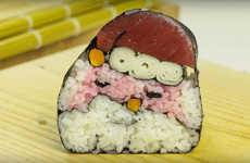 DIY Santa Sushi Rolls - This Tutorial Puts a Festive Twist on a Traditional Japanese Dish