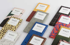 Chocolate Bar Clubs - The Mast Brothers Chocolate Bar Subscription Service Boasts Vibrant Packaging