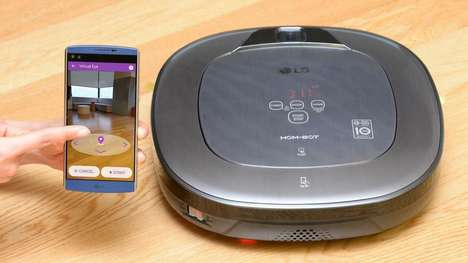 Home Security Vacuums - The Hom-Bot Turbo+ Robot Vacuum Cleaner Monitors for Burglars