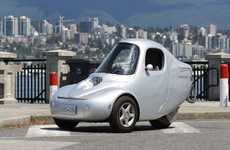 Narrow Electric Three-Wheelers - This Three-Wheeled Electric Vehicle is Designed for Dodging Traffic