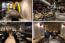 Upscale Fast Food Restaurants - This McDonald's Modern Restaurant Design in Hong Kong is Futuristic