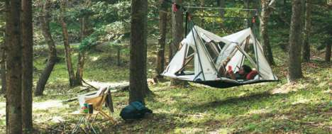 Suspended Single-Occupant Tents