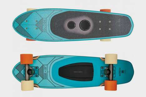 Built-In Skateboard Speakers - This Globe Skateboard Can Play Music Wirelessly While You Skate