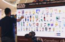 Sci-Fi Supermarket Displays - Carrefour Challenges Star Wars Fans to 'Shop with the Force'