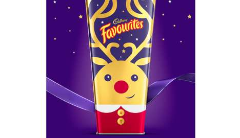 Reindeer-Branded Candy - Cadbury Favourites Serves Up a Special Christmas Collection of Sweets