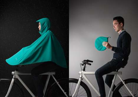Compact Cycling Raincoats