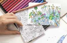 Adult Cityscape Coloring Books - The Wandering City by Moleskine Encourages Grown Up Creativity