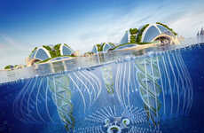 Eco Submarine Architecture - This Underwater City Would Be 3D Printed Using Found Ocean Garbage