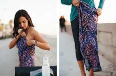 Mobile Disrobing Dresses - The Undress Allows Consumers to Change Outfits in Public Spaces