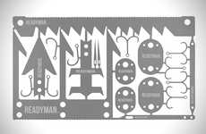 Survival Tool Accessories - The 'Readyman' Wilderness Survival Card Features Multiple Tools