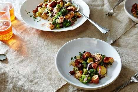Pretzel Panzanella Salads