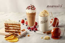 Fast Food Pie Lattes - McDonald's Poland is Offering Apple Pie Hot Beverages