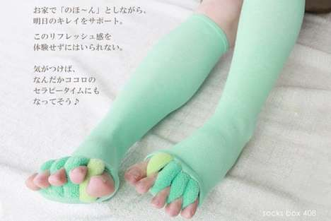 Toe-Stretching Socks - This Body Altering Footwear are Designed to Properly Align Feet