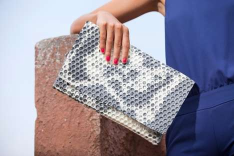 Handmade Plastic Purses - The 'WRAP BAG' by Matteo Pellegrino is a Clutch Bag Design with a Twist