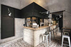 Modernized Italian Bars - The UNTO Restaurant in Palermo Offers Food and Drinks in a Dark Space