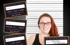 Resolution Mugshot Props - These New Year's Resolution Photo Booth Props are Hilariously Honest