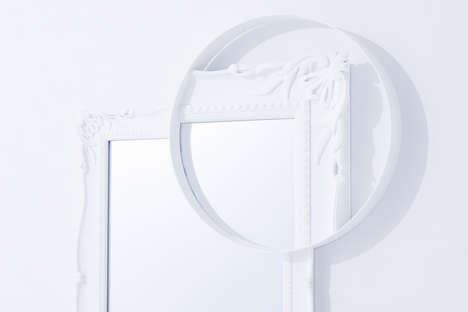 Magnificent Magnified Mirrors - This Elegant Reflector Plays an Eye-Teasing Trick