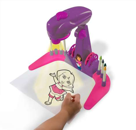 Artistry Teaching Toys - The Dora the Explorer Trace and Learn Projector Teaches Art Basics