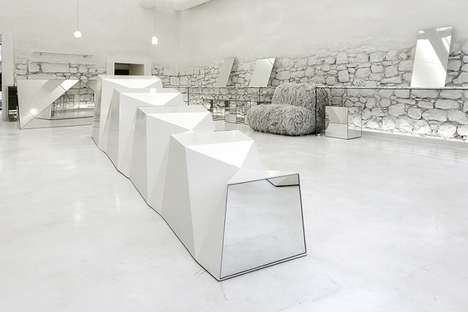 Conceptual Eyewear Boutiques - The C_29 / Optimist Eyewear Store is a Futuristic Boutique in Greece