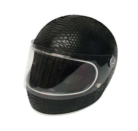 Luxe Snakeskin Helmets