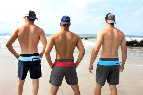 Upcycled Plastic Board Shorts - This Line of Functional Swimwear is Made Out of Plastic Waste