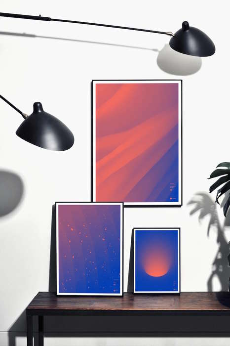 Commemorative Abstract Posters
