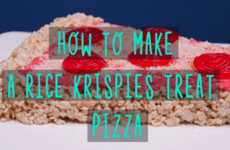 Cereal-Based Pizza Recipes - This Tutorial Explains How to Make a Rice Krispies Treat Pizza
