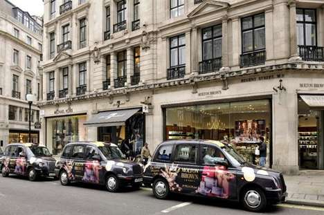 Festive Scented Taxi Cabs - Molton Brown's 'Christmas Carriages' Offer Induglent Rides